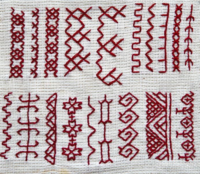 Виды рисунков в вышивке 236